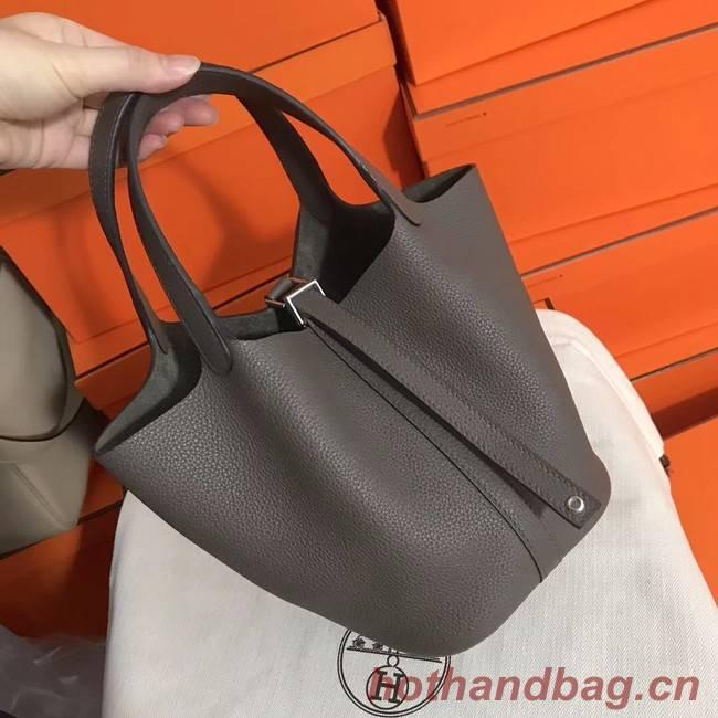 Hermes Picotin Lock PM Bags Original Leather H8688 grey