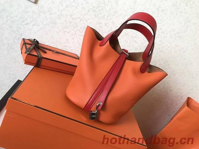 Hermes Picotin Lock PM Bags Original Leather H8688 orange&red