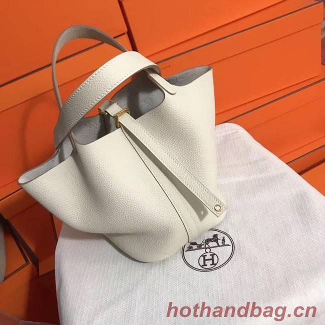 Hermes Picotin Lock PM Bags Original Leather H8688 white