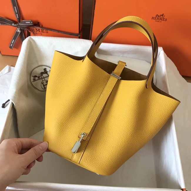 Hermes Picotin Lock PM Bags Original Leather H8688 yellow