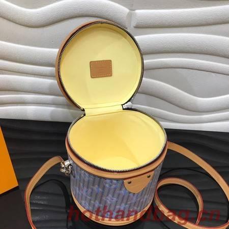 Louis Vuitton Cannes Blue Monogram Pop Print Original Leather M55457 Blue&Apricot