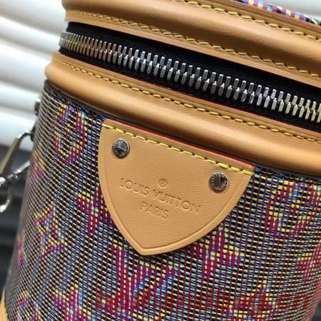 Louis Vuitton Cannes Blue Monogram Pop Print Original Leather M55457 Pink