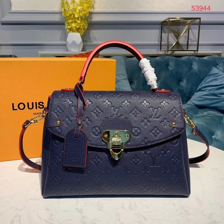 Louis Vuitton Georges MM Monogram Empreinte Original Leather M53944 Navy
