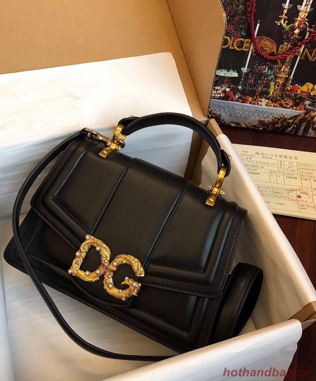 Dolce & Gabbana Origianl Leather Bag 4916 Black
