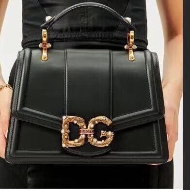 Dolce & Gabbana Origianl Leather Bag 4917 Black&Green
