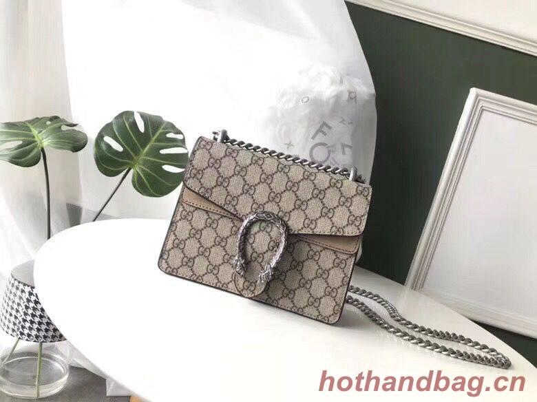 Gucci Mini Dionysus GG Canvas Shoulder Bag 421970 Khaki