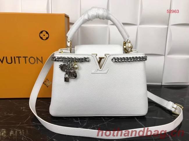 Louis Vuitton Original Leather CAPUCINES PM M52963 White
