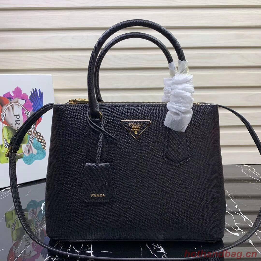Prada Galleria Saffiano Leather Bag 1BA232 Black