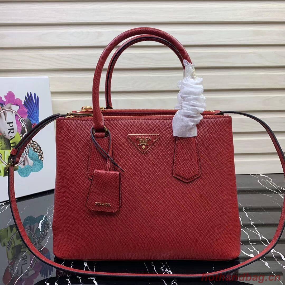 Prada Galleria Saffiano Leather Bag 1BA232 Red