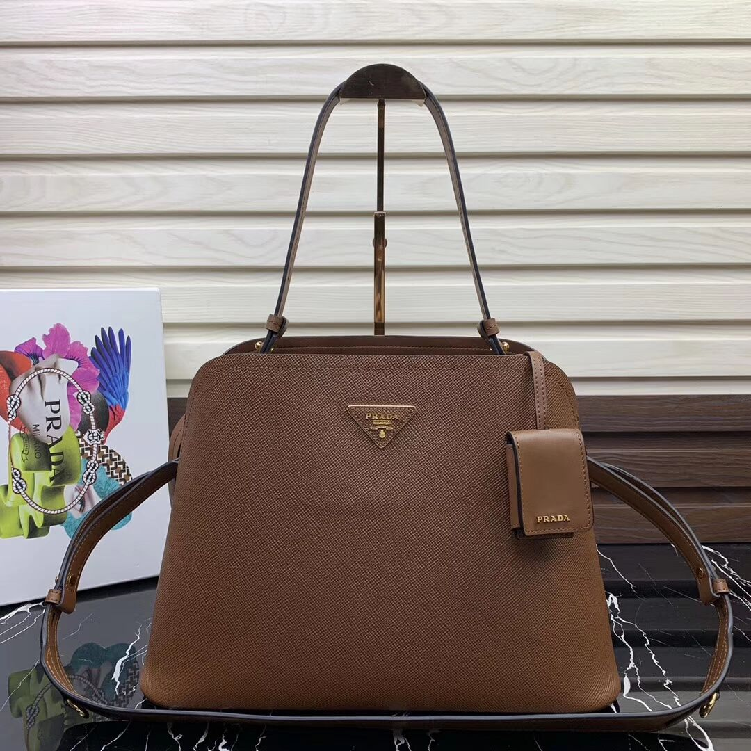 Prada Matinee handbag 1BA249 Brown