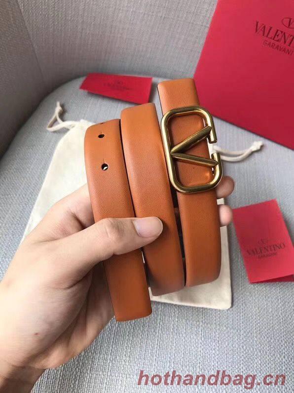 Valentino Leather Belt V7468 Brown