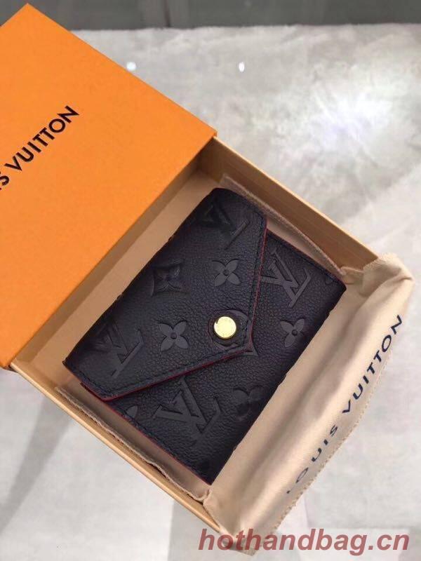 Louis Vuitton Original Monogram Empreinte Wallet M58439 Navy Blue