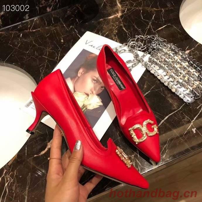 Dolce & Gabbana 6CM High Heels Shoes DG447SJC-5