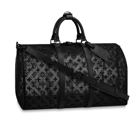 Louis Vuitton KEEPALL BANDOULIERE 50 with Shoulder Strap M53971 black