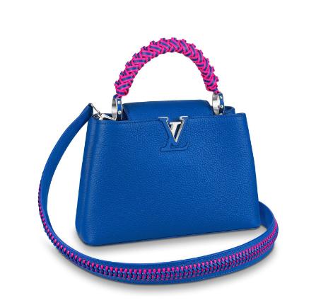 Louis Vuitton CAPUCINES BB M55236 blue