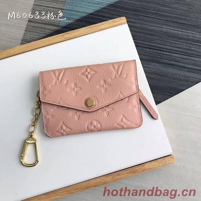 Louis Vuitton card holder N60633 pink