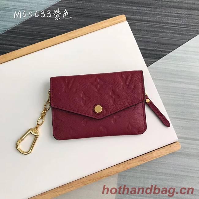 Louis Vuitton card holder N60633 purplish