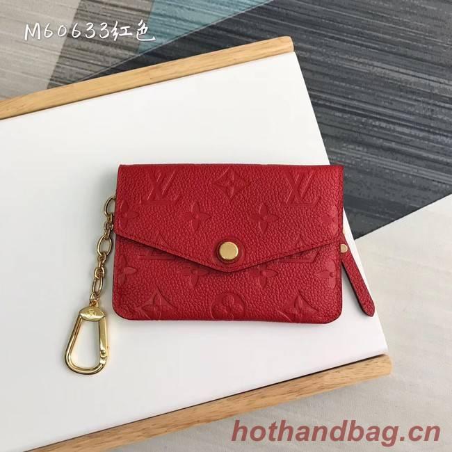 Louis Vuitton card holder N60633 red
