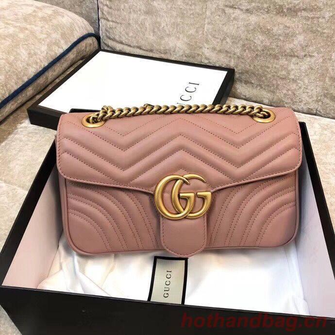 Gucci GG Marmont Original Leather matelasse shoulder bag 443497