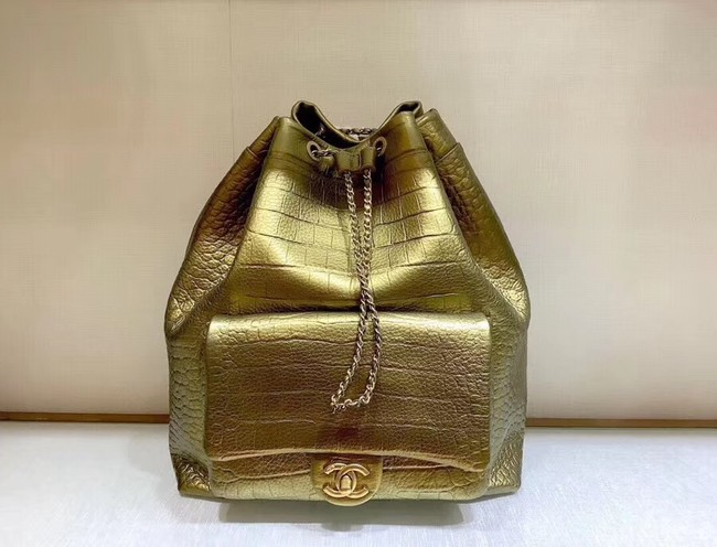 Chanel Original Leather Backpack AS0800 Gold