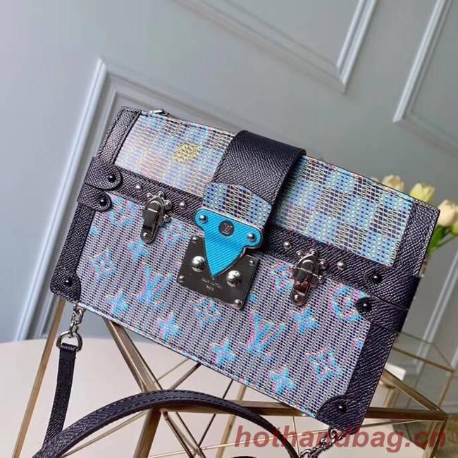 Louis Vuitton Trunk Clutch Original Leather Bag M55456 Blue