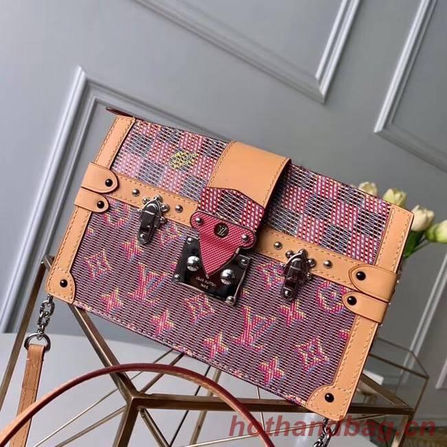 Louis Vuitton Trunk Clutch Original Leather Bag M55456 Pink