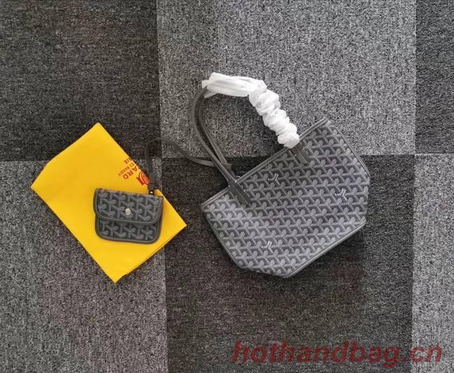 Goyard Calfskin Leather Mini Tote Bag 6782 Grey
