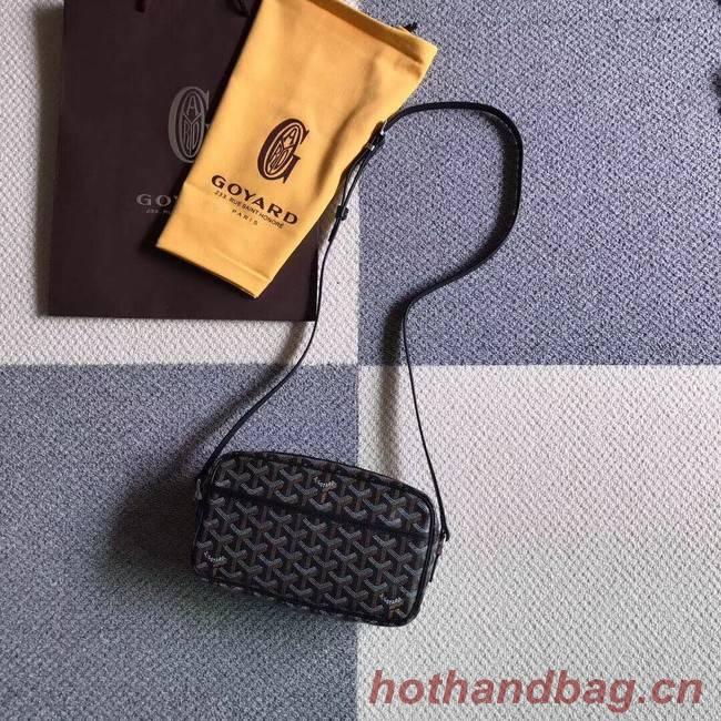 Goyard Calfskin Leather Shoulder Bag 6788 Black
