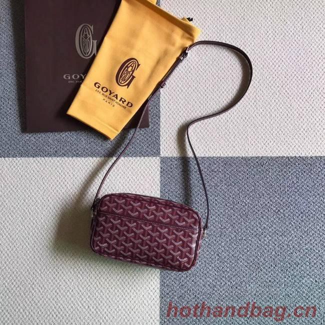 Goyard Calfskin Leather Shoulder Bag 6788 Wine