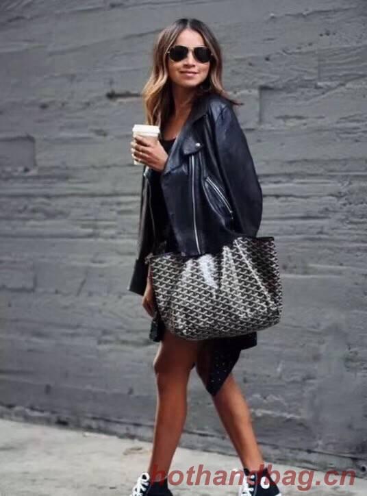 Goyard Calfskin Leather Tote Bag 6783 Black