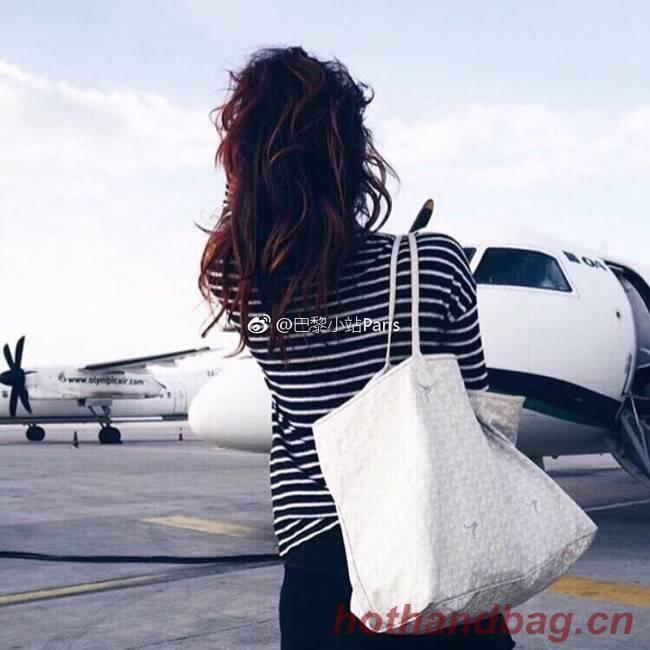 Goyard Calfskin Leather Tote Bag 6783 White