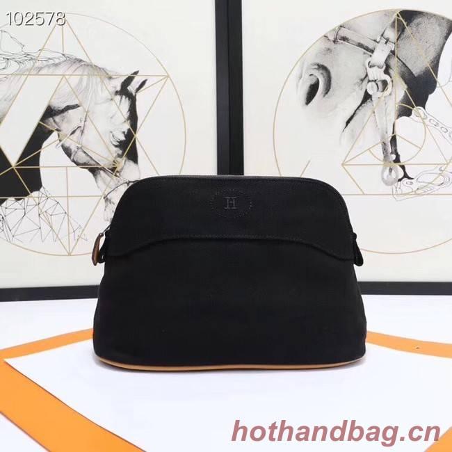 Hermes Cosmetic Bag H3699 Black