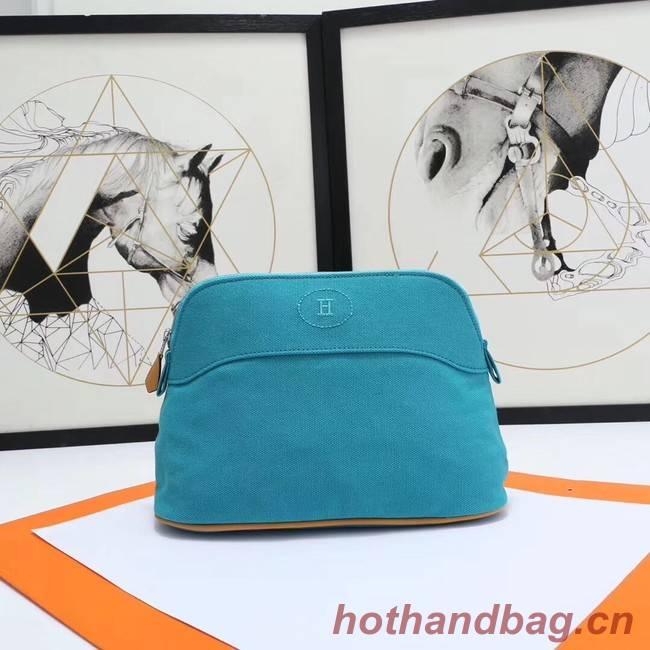 Hermes Cosmetic Bag H3699 Blue