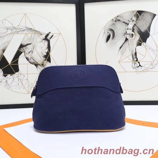 Hermes Cosmetic Bag H3699 Dark Blue