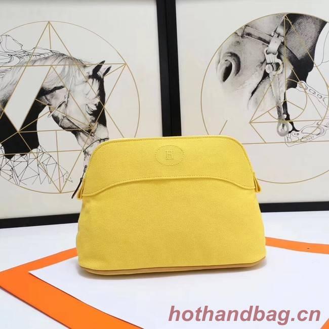 Hermes Cosmetic Bag H3699 Lemon Yellow