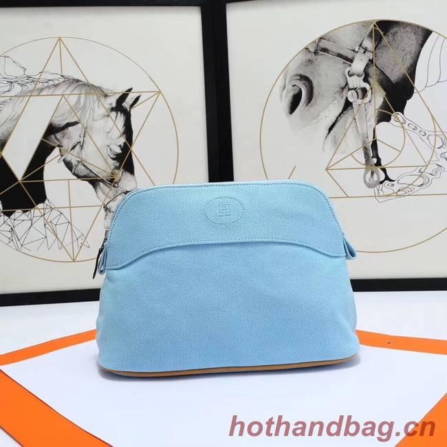 Hermes Cosmetic Bag H3699 Light Blue
