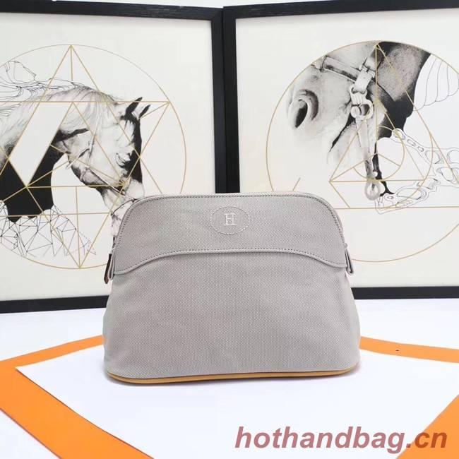 Hermes Cosmetic Bag H3699 Light Grey