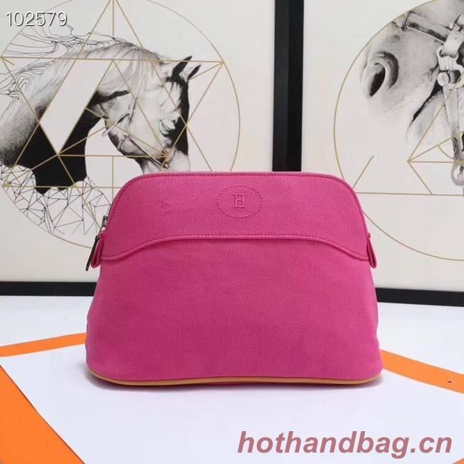 Hermes Cosmetic Bag H3699 Rose