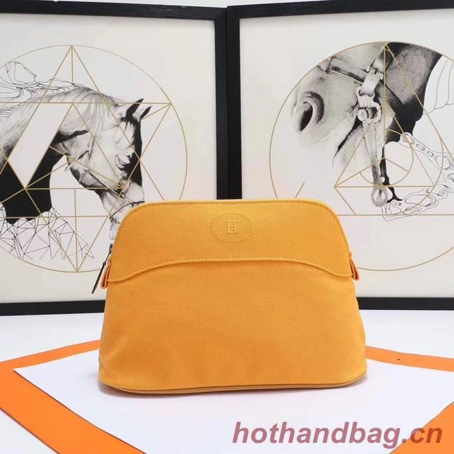 Hermes Cosmetic Bag H3699 Yellow