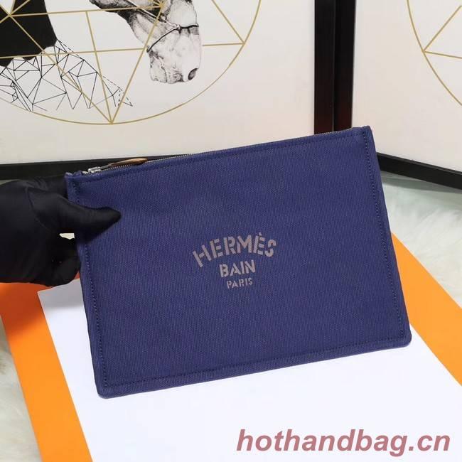 Hermes Cosmetic Bag H3700 Blue