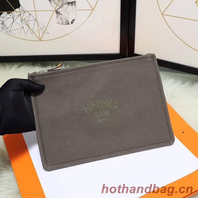 Hermes Cosmetic Bag H3700 Grey