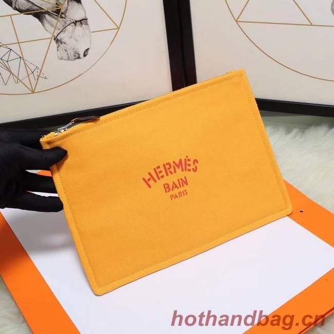 Hermes Cosmetic Bag H3700 Mango Yellow