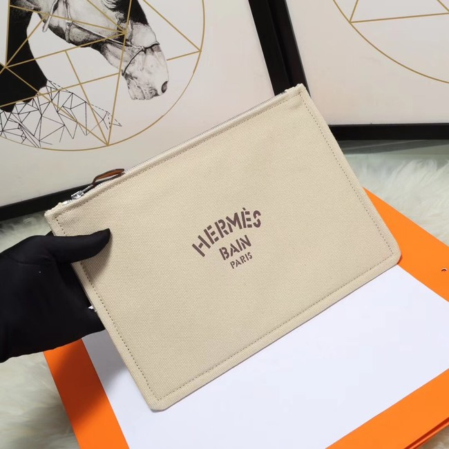 Hermes Cosmetic Bag H3700 Off White
