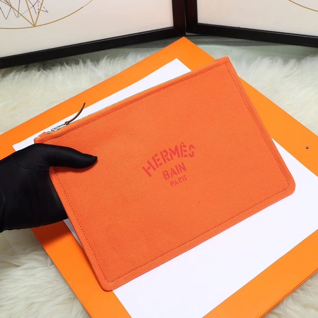 Hermes Cosmetic Bag H3700 Orange