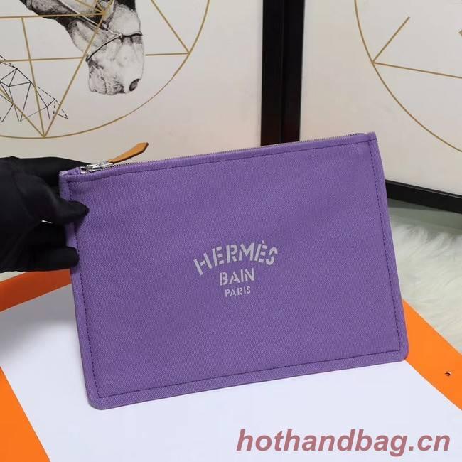 Hermes Cosmetic Bag H3700 Purple