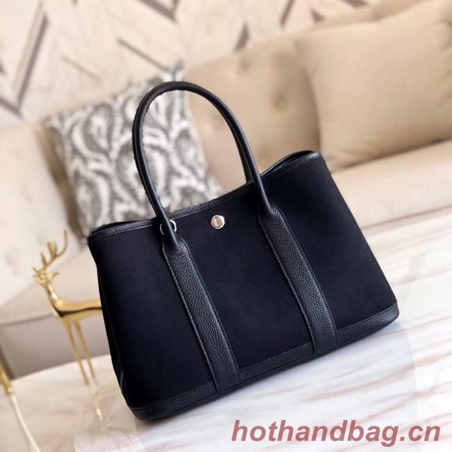 Hermes Garden Party 36cm Tote Bags Original Leather A3698 Black