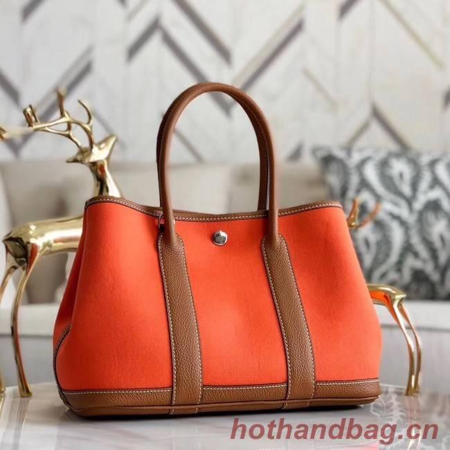 Hermes Garden Party 36cm Tote Bags Original Leather A3698 Orange