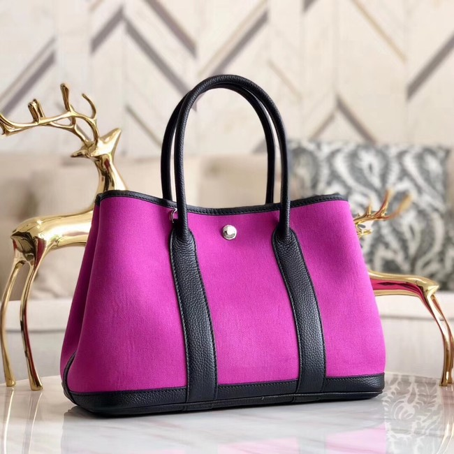 Hermes Garden Party 36cm Tote Bags Original Leather A3698 Purple