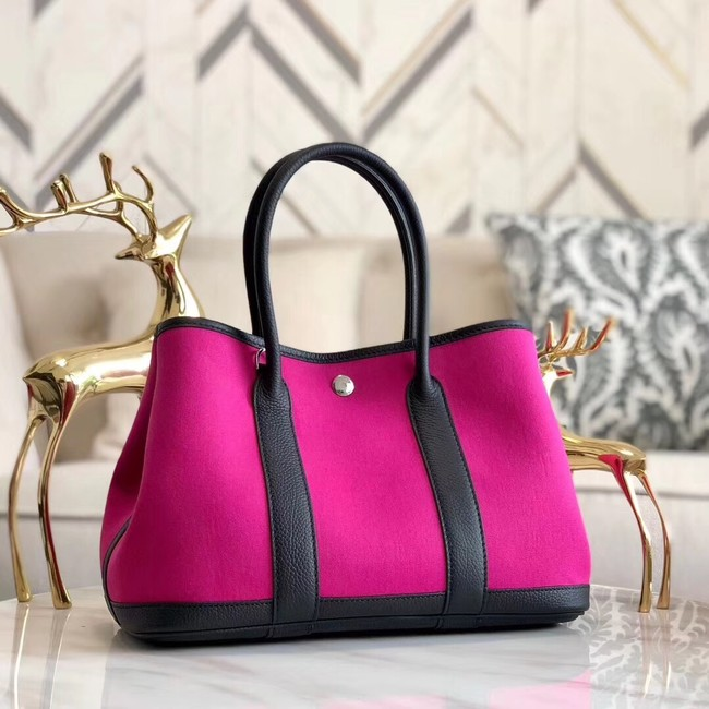 Hermes Garden Party 36cm Tote Bags Original Leather A3698 Rose