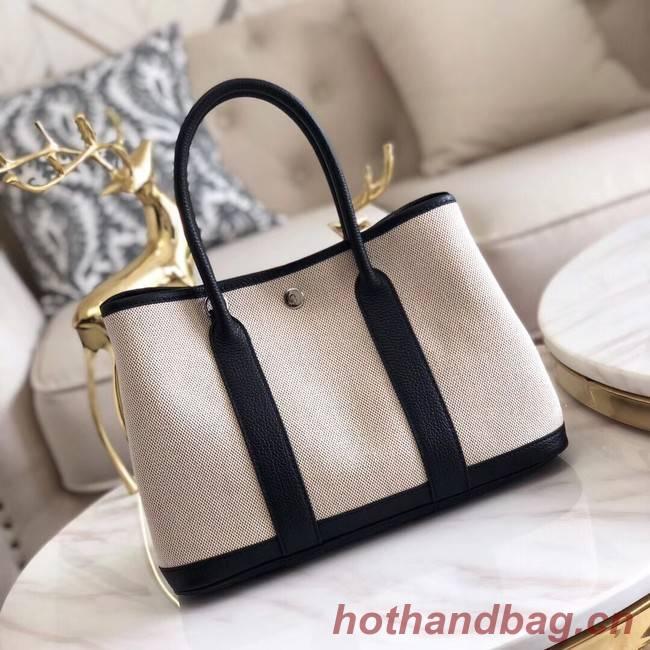 Hermes Garden Party 36cm Tote Bags Original Leather H3698 Black